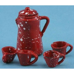 Redware Coffee Set