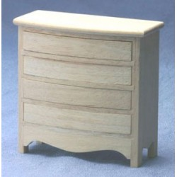 CHEST OF DRAWERS, UNFINISHED