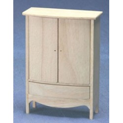 Unfinished Armoire with Drawer