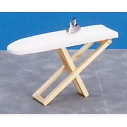 Folding Ironing Board w/Iron, Oak