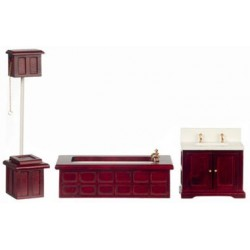 Vict.Bath Set/3 Mahogany