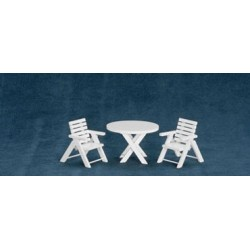 Outdoor Table + Chairs, 3Pc/Cb