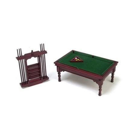 Pool Table Set, Mahogany/Cs