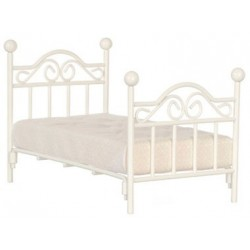 White Single Bed W/Mattress