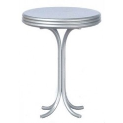 Round Tall Table, Silver