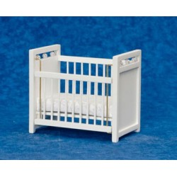 Crib, White/White/Cb