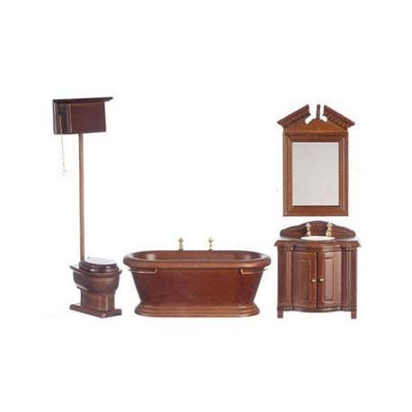 Old fashioned bath set 4 dollhouse bathroom sets for Fashion bathroom set