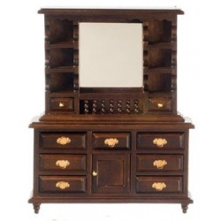Dresser W/Mirror, Walnut