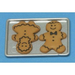 Gingerbread Boy & Girl On Cookie Sheet