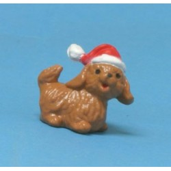 Dog In Santa's Hat, 5/8 Inch H