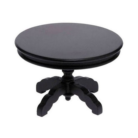 Round Pedestal Table, Black