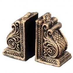 Resin Scroll Bookends