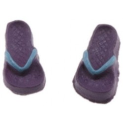 Flip Flops, Lilac and Light Blue, Small