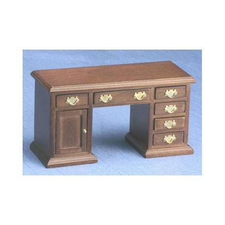 dollhouse walnut office desk miniature office furniture