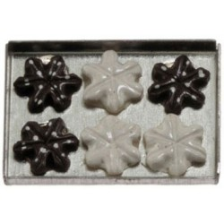 Snowflake Cookies on a sheet