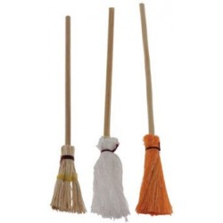 Brooms & Mop Set, 3/Pk