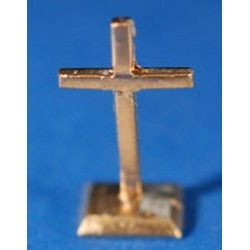 Cross On Stand, Gold Color