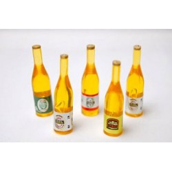 Beer Bottles, 5Pc Asst