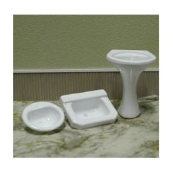 2C - Sink-Pedestal 1:12 Clear , 1Pc