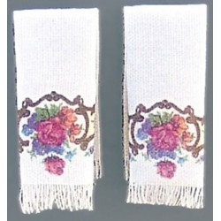 Dresden Rose Hand Towels