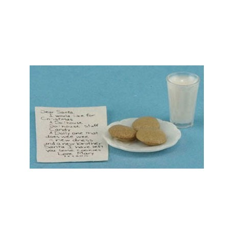 Note To Santa W/ Milk & Cookies