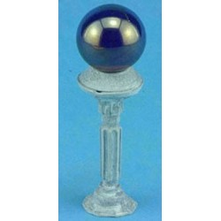 Gazing Ball On Pedestal