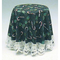 SKIRTED TABLE-CHRISTMAS GREEN