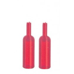Set Of Two Wine Bottles, Red