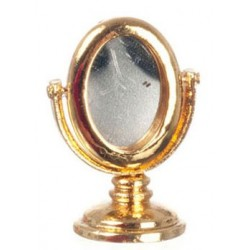 Gold Dressing Table W/Mirror