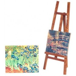 Easel W/2 Canvas Paintings