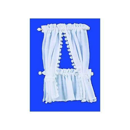 CABIN CURTAINS: WHITE