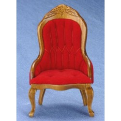Victorian Lady's Chair Red