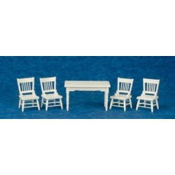 Table/Chairs/Set/5/Wht/Cb