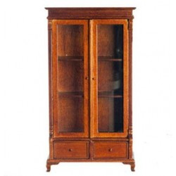 Bookcase Cabinet, Walnut
