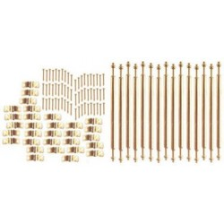 Stair Rod Set/15 Rods/Br