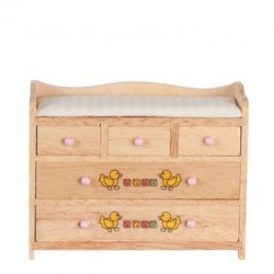 Changing Table/Oak W/Abc Design