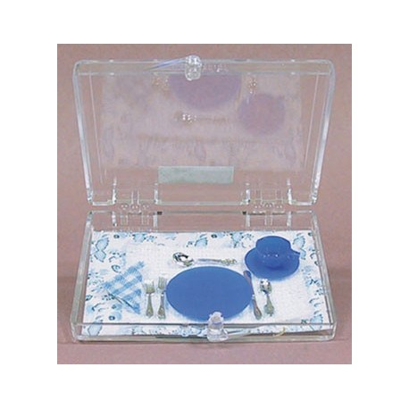 PLACE SETTING, COBALT BLUE, 8/PC