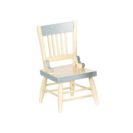 Dining Chair/White/Bl. Trim