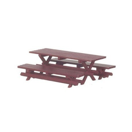 Picnic Table W/2 Benches, Red