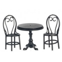 Bistro Table Set, Bl Met, 3pc
