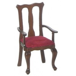 Q.A. Armchairs/Red/Waln/2