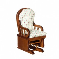 Glider Rocker, Walnut/Cb