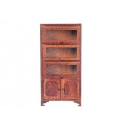 Bookcase/3 Glass Doors/Wal
