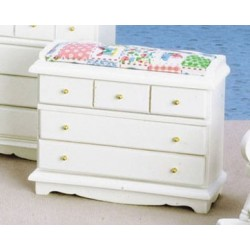 Changing  Table/Chest  White W/Pink