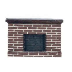 1/2In Red Brick Fireplace