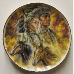 Indians With Horse Platters