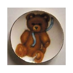 Toy Bear With Blue Ribbon