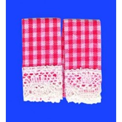 KITCHEN DISH TOWELS, GINGHAM RED