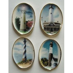 4 Oval Lighthouses & Ships