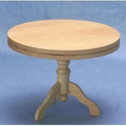 Pedestal Kitchen Table, Oak